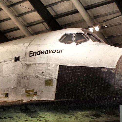 This happened today Spaceshuttle Endeavour Californiasciencecenter Laliving