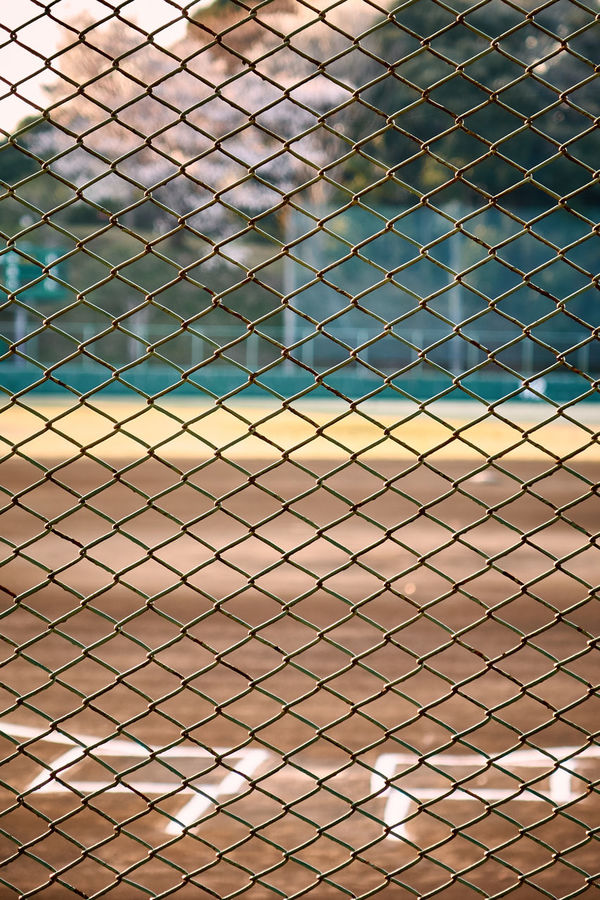 Architecture Backgrounds Baseball Baseball Field Batter Bo Built Structure Close-up Day Empty Evening Focus On Foreground Full Frame Nature Net No People Outdoors Pattern Repetition Roof
