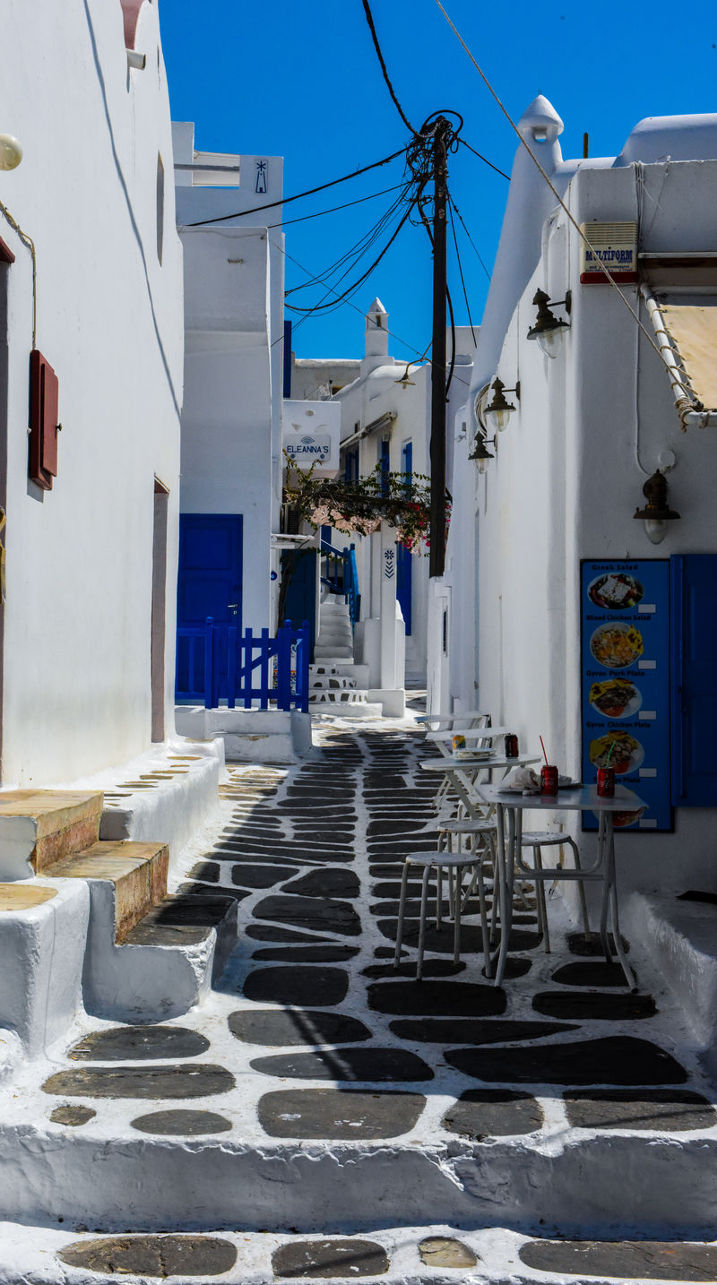 Mykonos,Greece Architecture Building Exterior Built Structure Cable City Clear Sky Day Go-west-photography.com Greece Kyklades Kyklades Islands Mykonos No People Outdoors Sky Travel Destinations