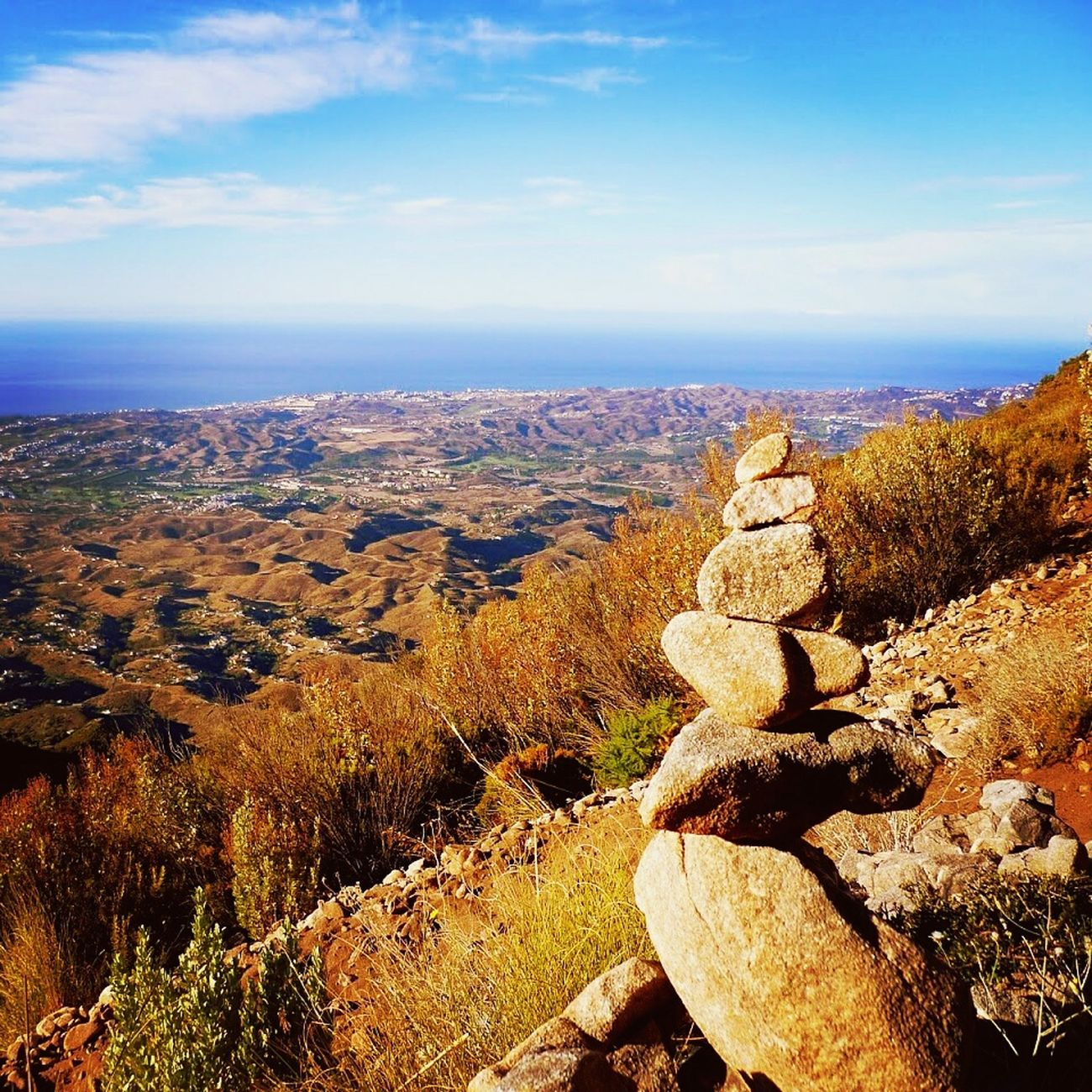 Halfway up Pico Mijas in southern Spain. Travel SPAIN Pueblo Mijas Mountain View