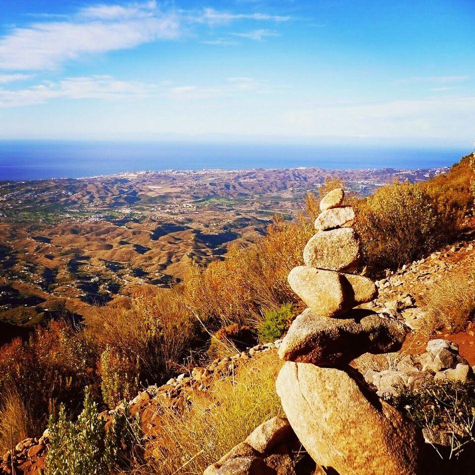 Halfway up Pico Mijas in southern Spain. Travel SPAIN Pueblo Mijas Mountain View