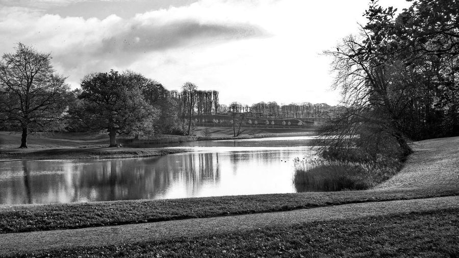 The park Hillerød Frederiksborg Slotspark Water Tree Sky River Cloud - Sky Nature Dam Beauty In Nature Outdoors Travel Destinations