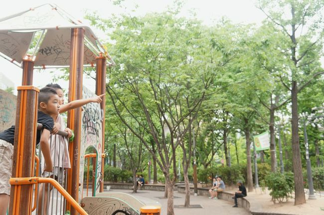 형와 동생 :) 홍대 홍대놀이터 대한민국 여름휴가 Hongdae South Korea🇰🇷