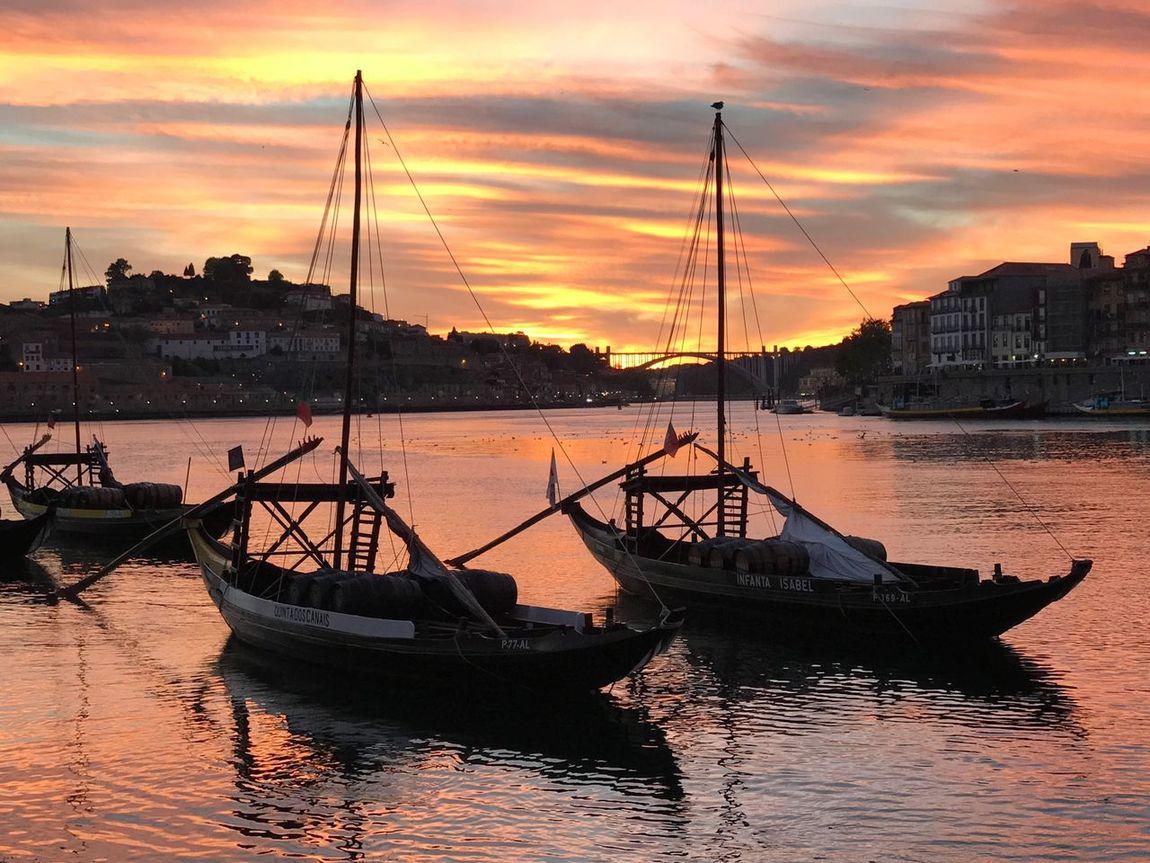 The Week On EyeEm Sommergefühle Nautical Vessel Sunset Porto Portugal 🇵🇹 EyeEmNewHere wWatermMode Of TransportmMooredbBoatwWaterfrontaArchitecturesSkyoOutdoorsnNaturesSilhouettebBeauty In NaturecCloud - SkybBuilding ExteriorbBuilt StructuretTranquilitytTravel DestinationsmMast The Week On EyeEm Lost In The Landscape EyeEmNewHere Be. Ready. EyeEm Ready