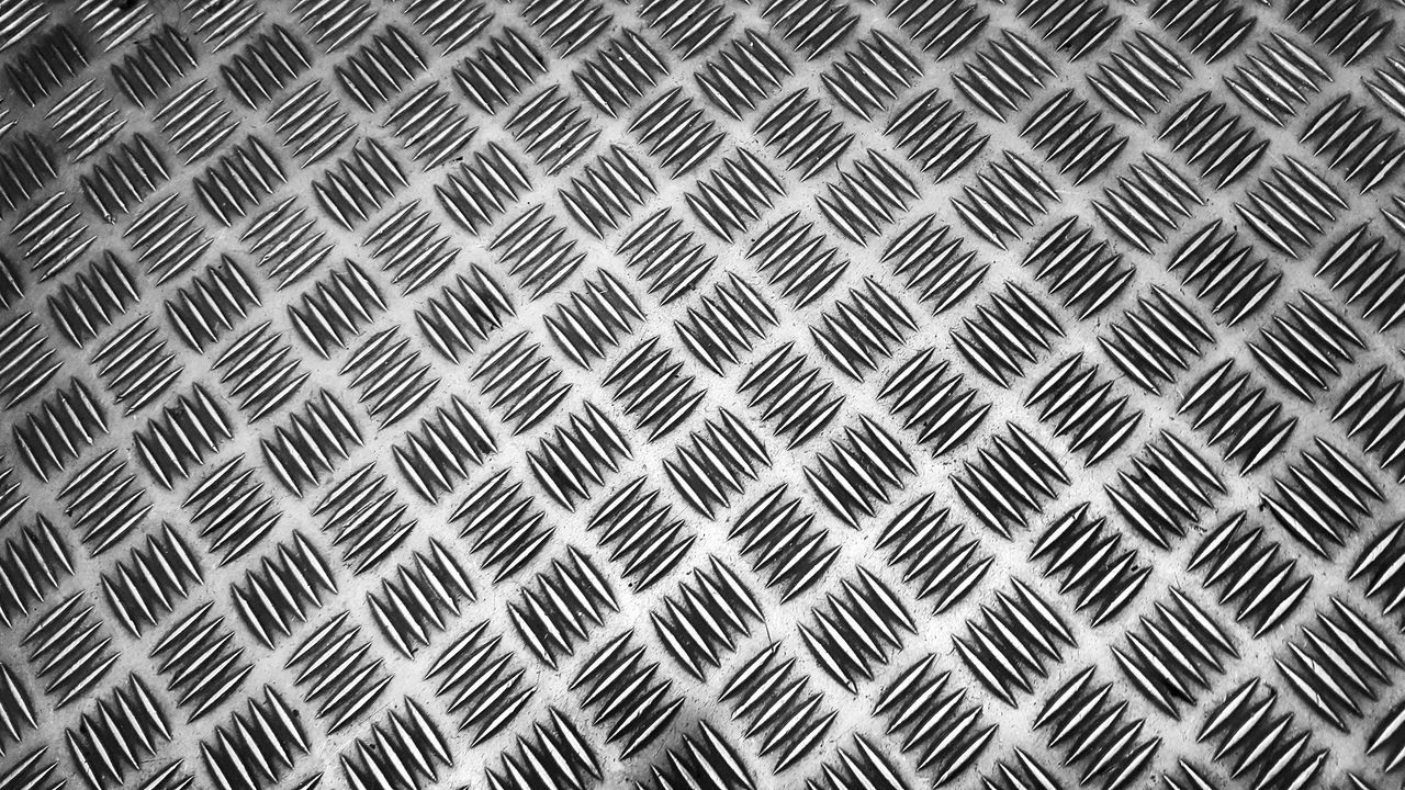 Full Frame Pattern Backgrounds Textured  Seamless Pattern No People Day Close-up Outdoors B/w Black & White Metal