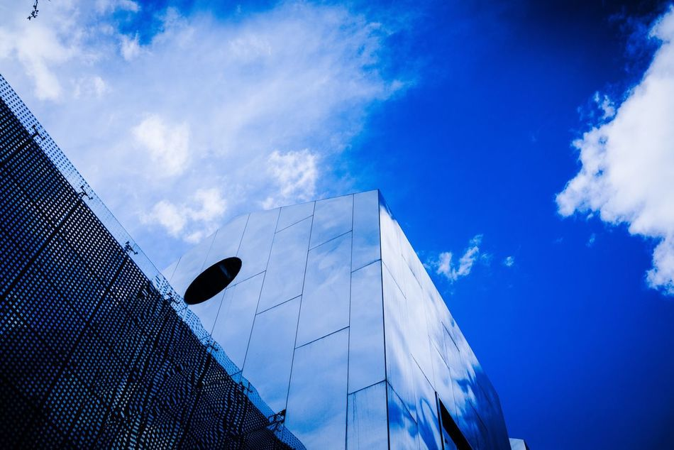 Low Angle View Sky Architecture Blue Cloud - Sky No People Built Structure Building Exterior Day Outdoors Mirror Mirror Reflection Mirror Picture Break The Mold