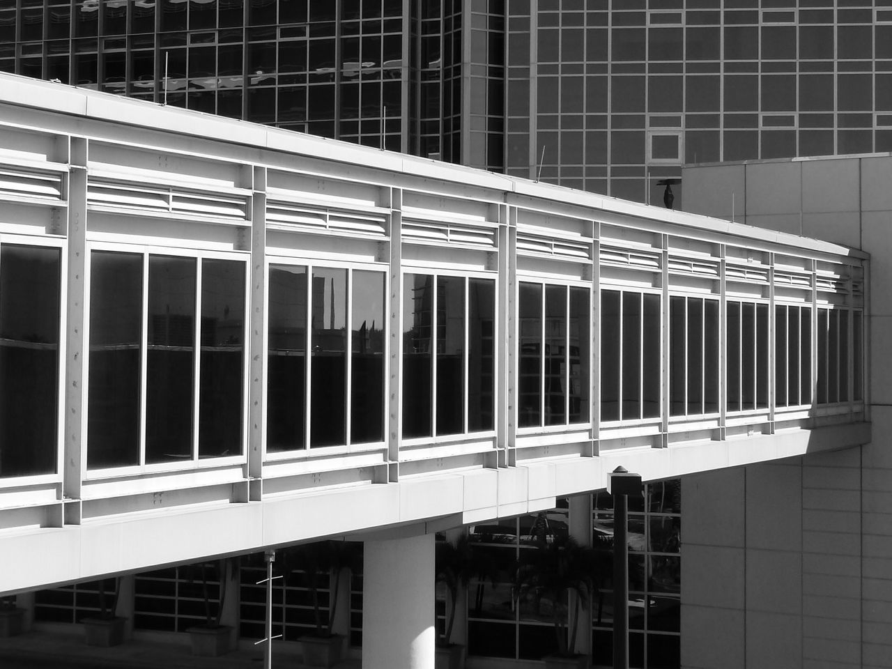 Building Bridge Building Exterior Architecture Structure Angled View Perspective Monochrome Photography