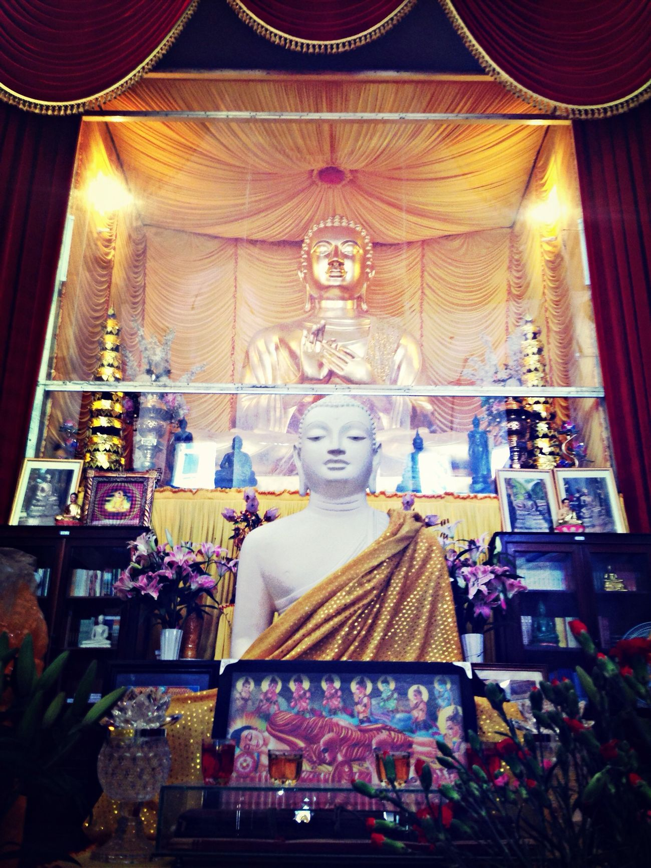 Inner peace of a new year. Buddha Pagoda Family Peace