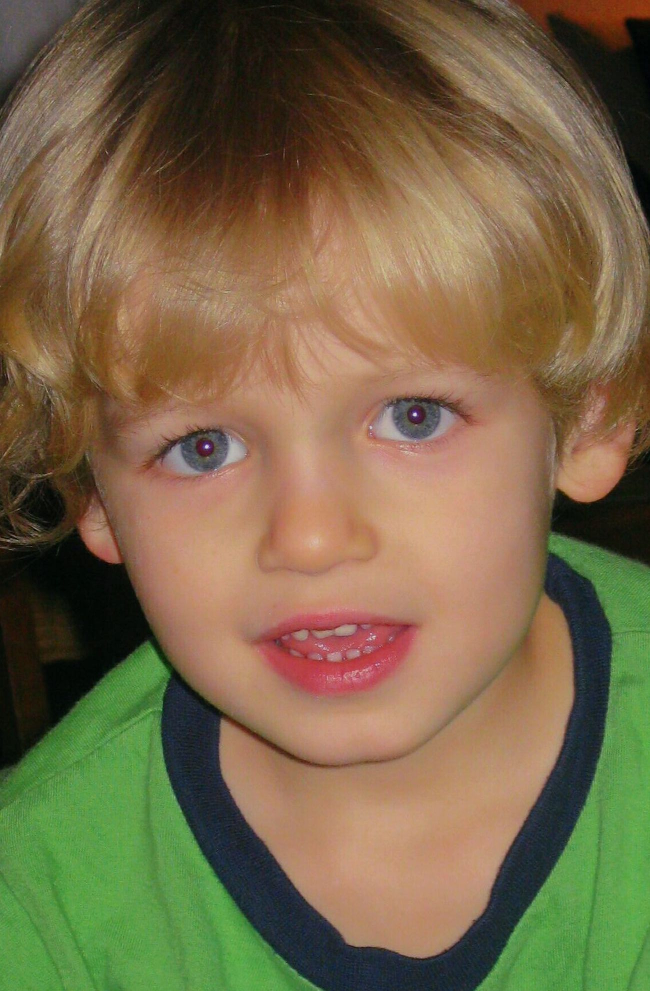 Levin Looking At Camera Portrait Child Childhood Front View Headshot One Person Human Face Human Body Part Children Only Human Eye Close-up One Boy Only Blond Hair Indoors  People Protruding Day Adult