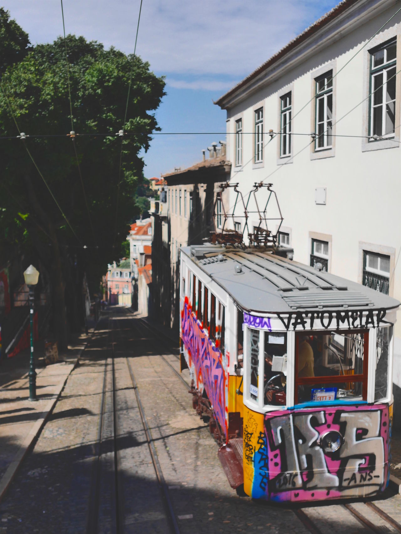 Architecture Building Exterior Built Structure City City City Break Day Graffiti Land Vehicle Lisbon Lisbon - Portugal Lisbon City Life Mode Of Transport No People Outdoors Portugal Portugal Is Beautiful Public Transportation Residential Building Tram Transportation