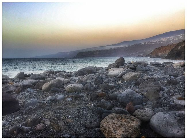 Shore Coastline Stone Beach Beautiful Cliff Sky Sea Water Waves Tenerife Public IPhoneography