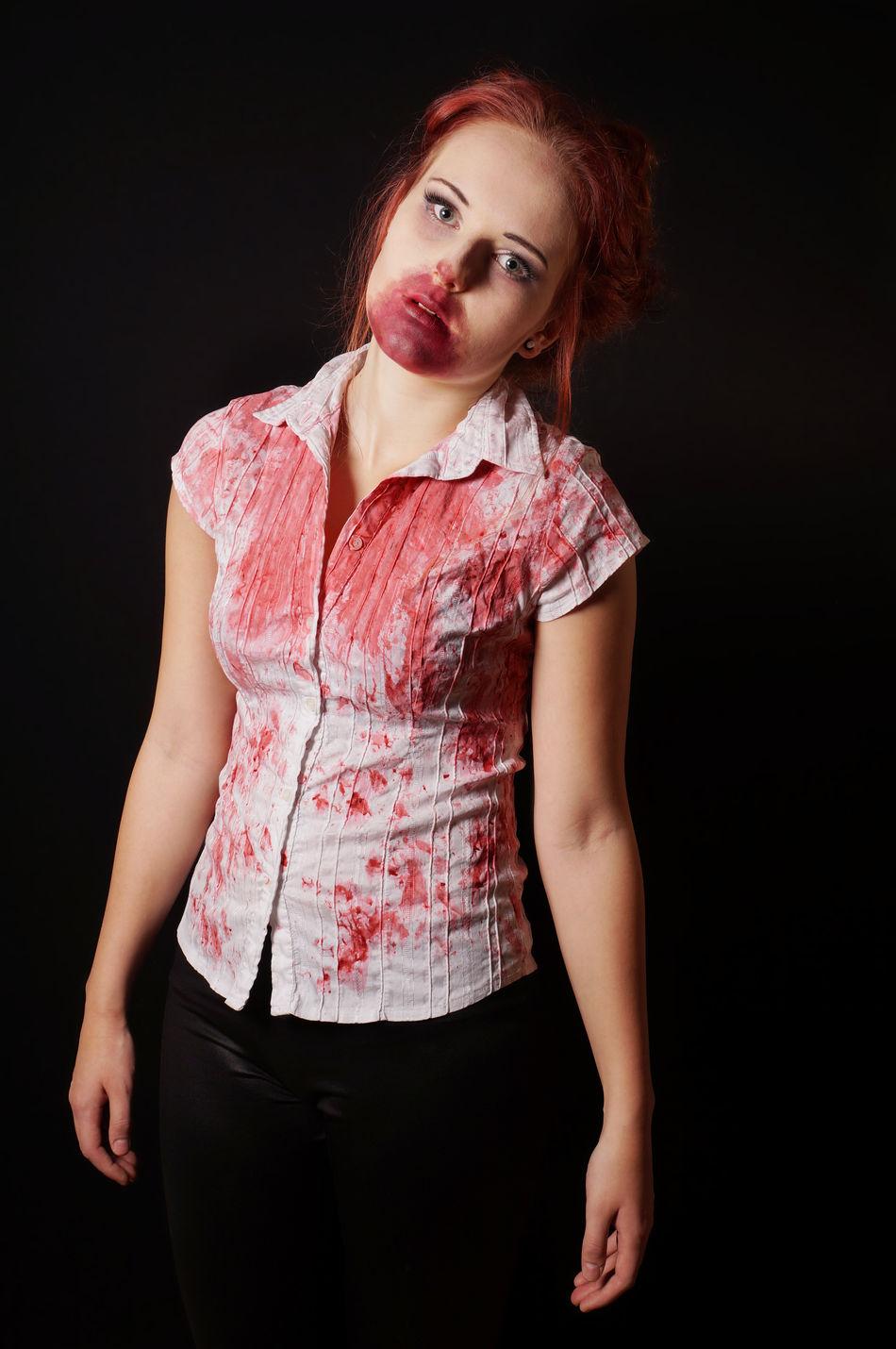 Beautiful stock photos of zombie, 18-19 Years, Black Background, Celebration, Costume