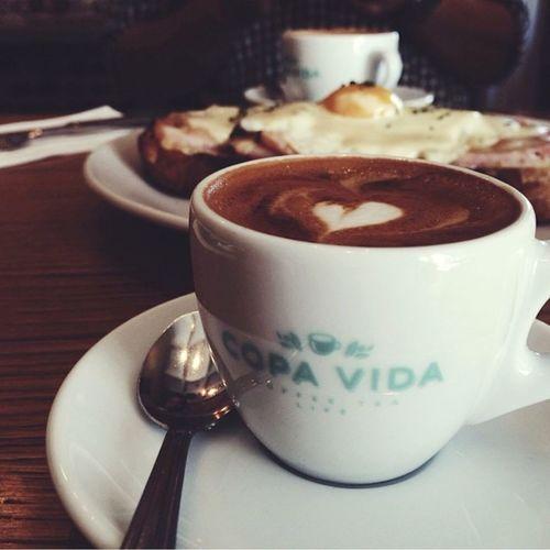 Morning Delight Breakfast Coffee Latte Pasadena  Break Time Good Eats Copa Vida