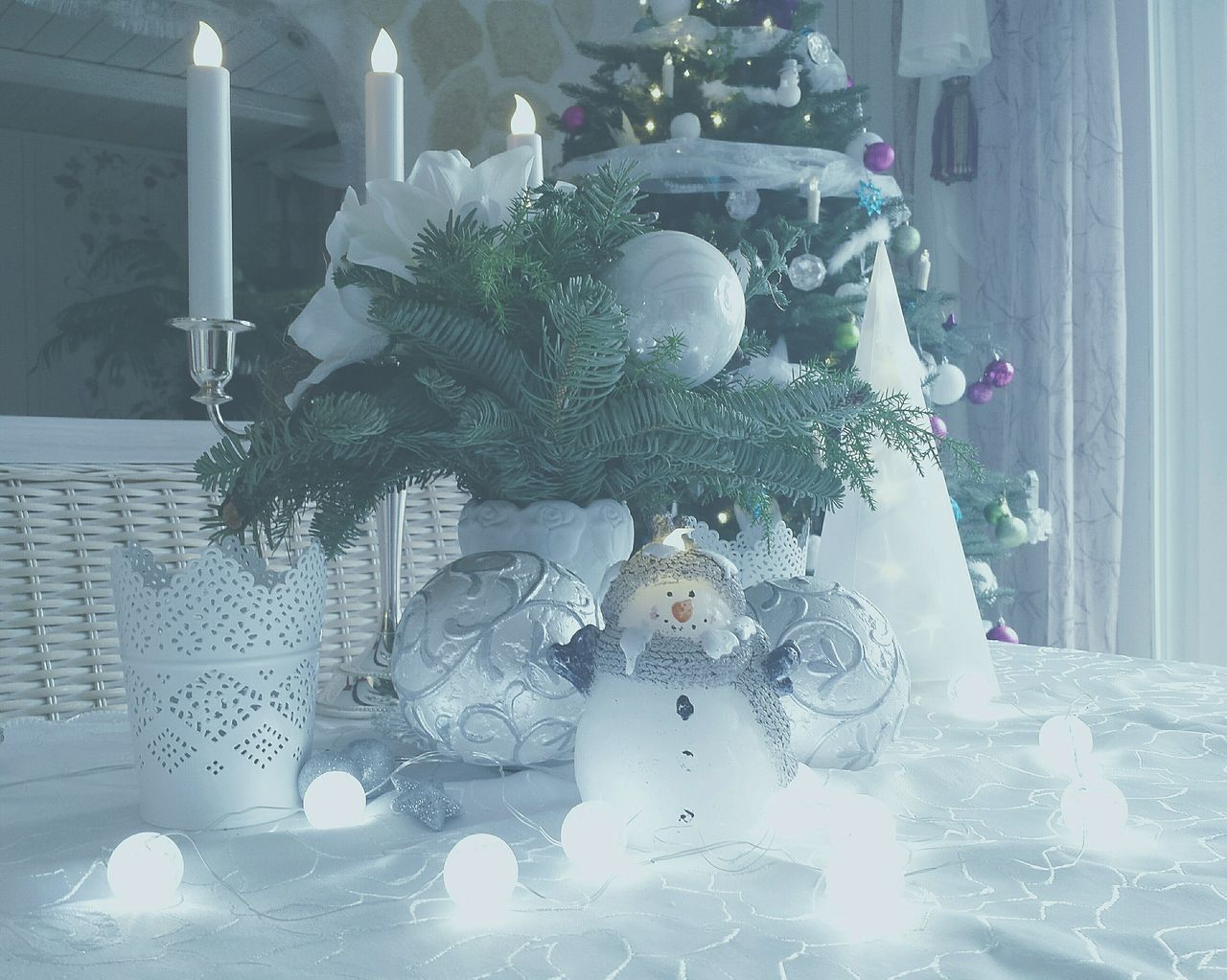 Tree No People Close-up Indoors  Ladyphotographerofthemonth Pastel Edit Snowman Still Life Stillleben Stillleben Mit Kerze Still Life With Candle Schneeman-kerze Snowman Candle