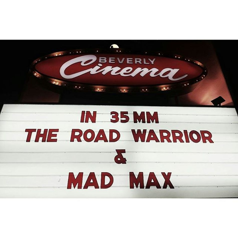 Newbeverlycinema Madmax ROADWARRIOR 35mm cinema LALiving californiadreaming highlightsofthenight