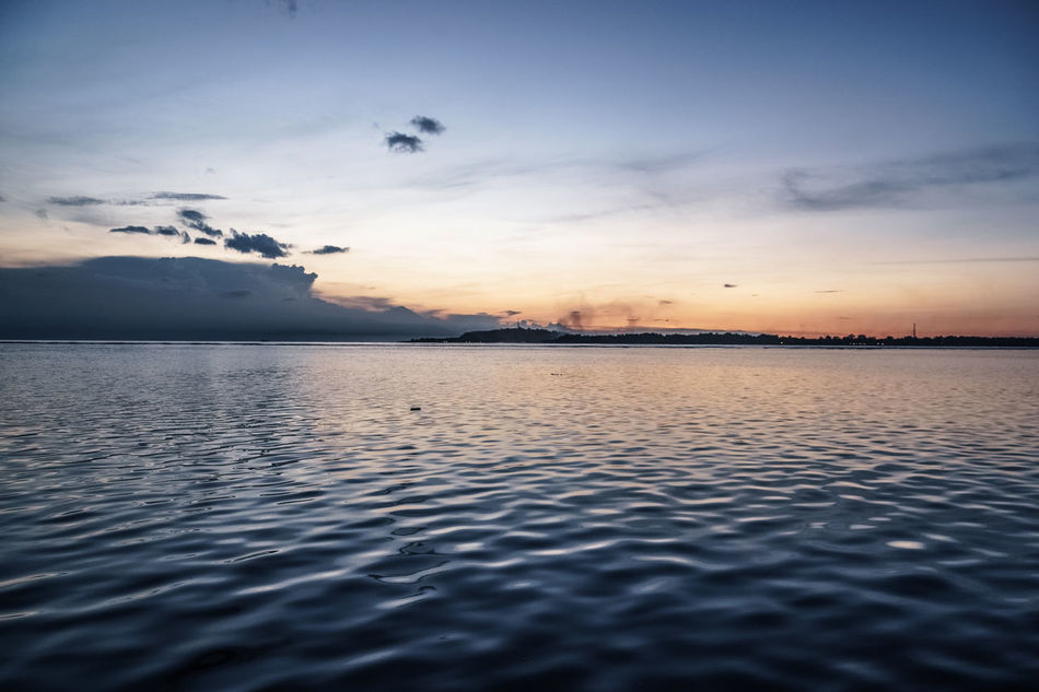 Still waters run deep. ASIA Beach Blue Blue Hour Clouds And Sky Dark Gili Air Horizon Over Water Island Landscape Lonely Mood No People Photo Place Reflection Sea Sea And Sky Silence Sky Still Sunset Thoughtful Travel Water