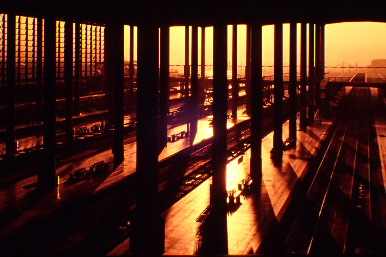 Architecture Atocha Indoors  Madrid No People Railway Station Silhouette SPAIN Sunset