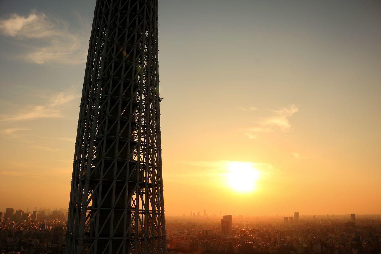 Sunset Redsun Redsunset Sunsets Sunset_collection Japan Tokyo Sun Tokyoskytree Orange Sky Skytree