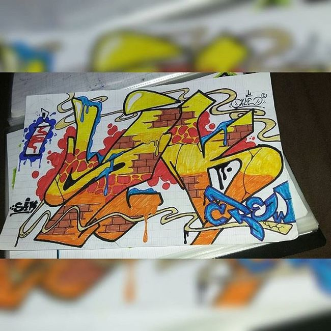 Sketching, sketching and sketching!... SIK_CREW AceTwo Sik Colors Sketches Graffiti GraffitiOnPaper ...