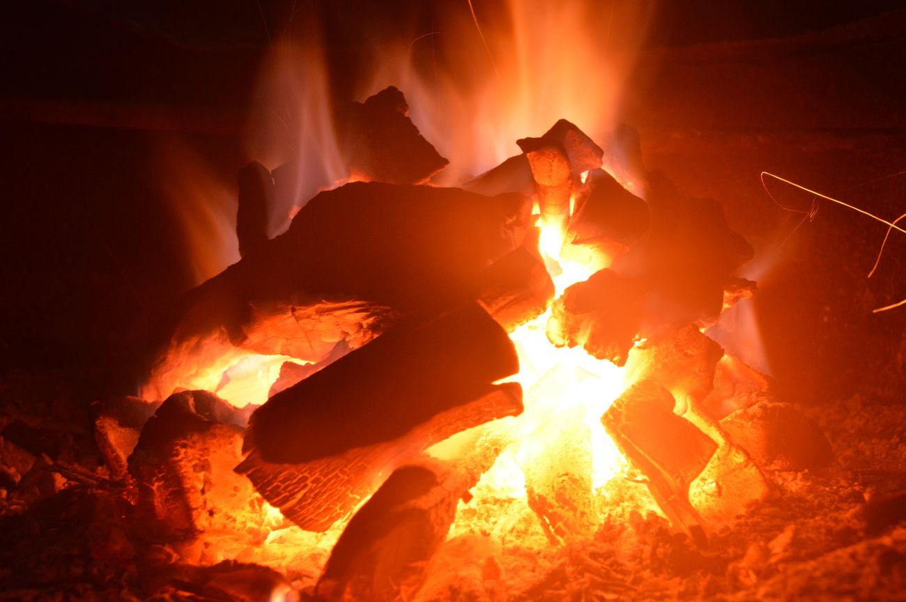 Fire - Natural Phenomenon Flame Heat - Temperature Burning Camping Illuminated Outdoors