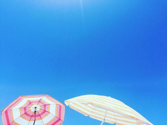 Sunshine Beach Blue Sky Umbrella