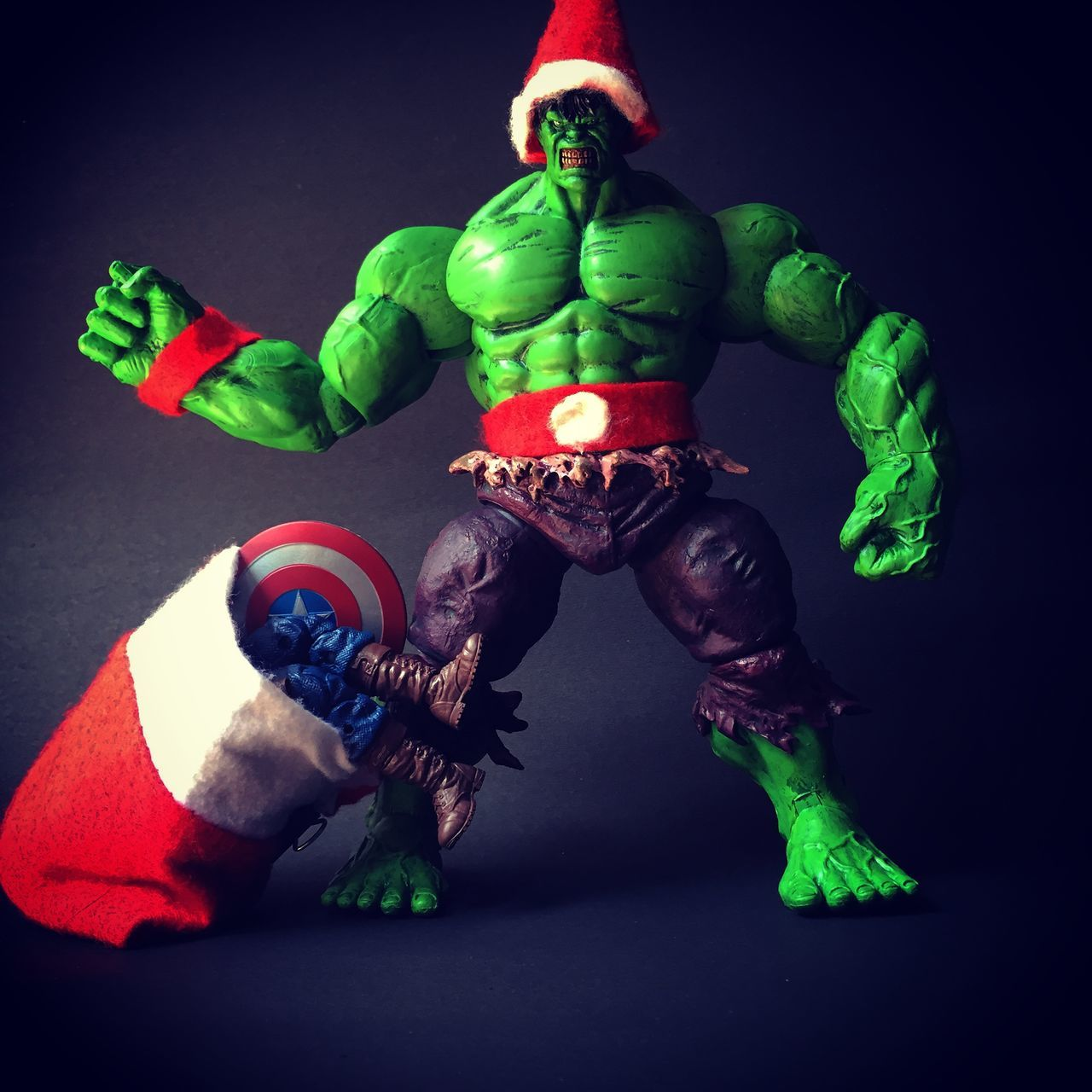 Hulk Christmas Fun Captain America