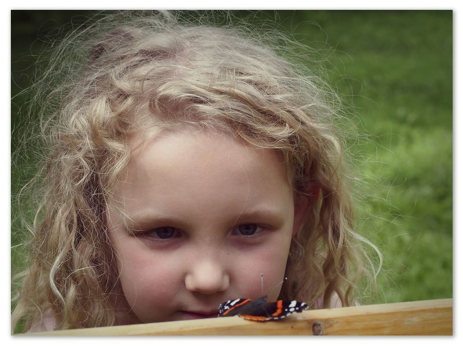 Let's try a tongue twister: Snoopy little girl spotting lazy lepidoptera in Hesdigneul-lès-Boulogne - MAinLoveWithLife and Little Girl watching Butterfly Butterflies Children Children Photography Children Portraits The Portraitist - 2015 EyeEm Awards The Moment - 2015 EyeEm Awards - 23.07.2015