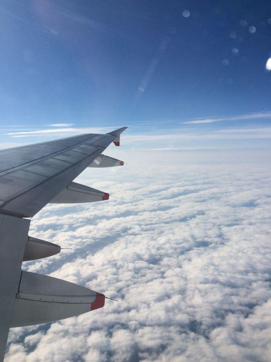 Travel Cloud - Sky Flying Airplane Wing Nature Shiplife Worldcruise EyeEmNewHere