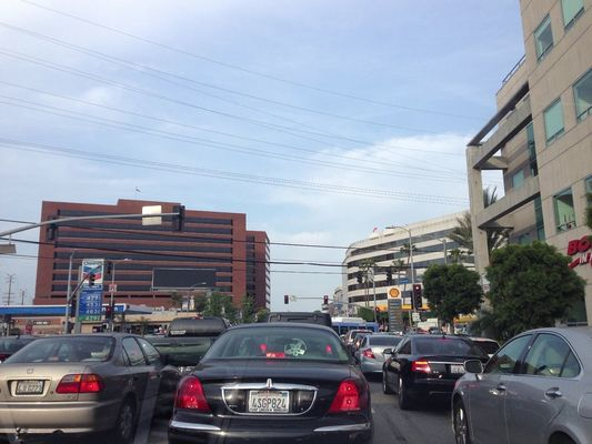 LA Traffic in Hollywood by Joanna Riquett
