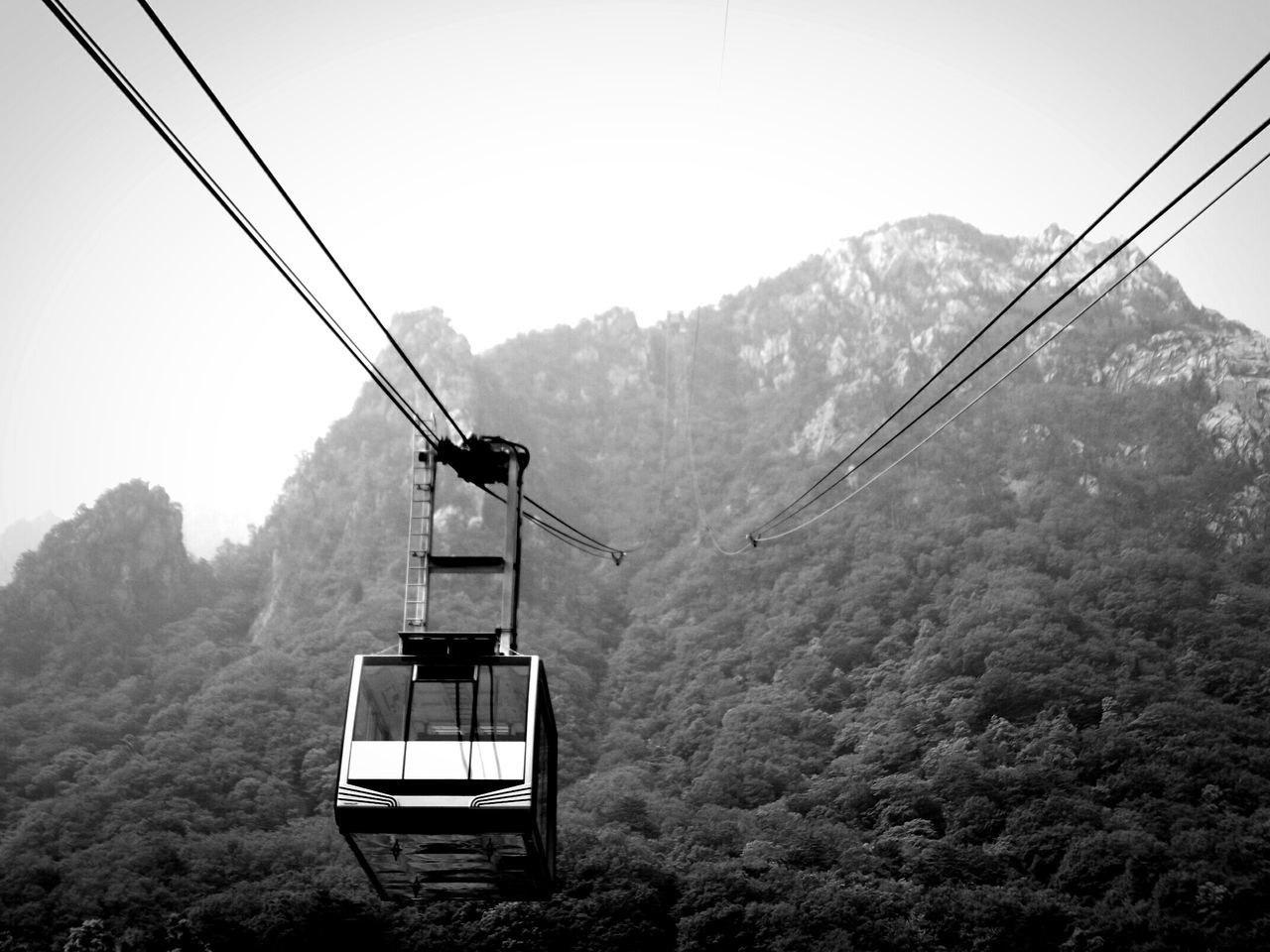 Seoraksan Clear Sky Mount Sorak Mount Sorak, Korea Seoraksannationalpark Foggy Foggy Landscape Outdoors Outdoor Photography Nature Photography Nature South Korea Seorak Mountain Korea Mountain Forest Woods Trees Cable Car B&w Black And White Photography Black And White Sky Black & White
