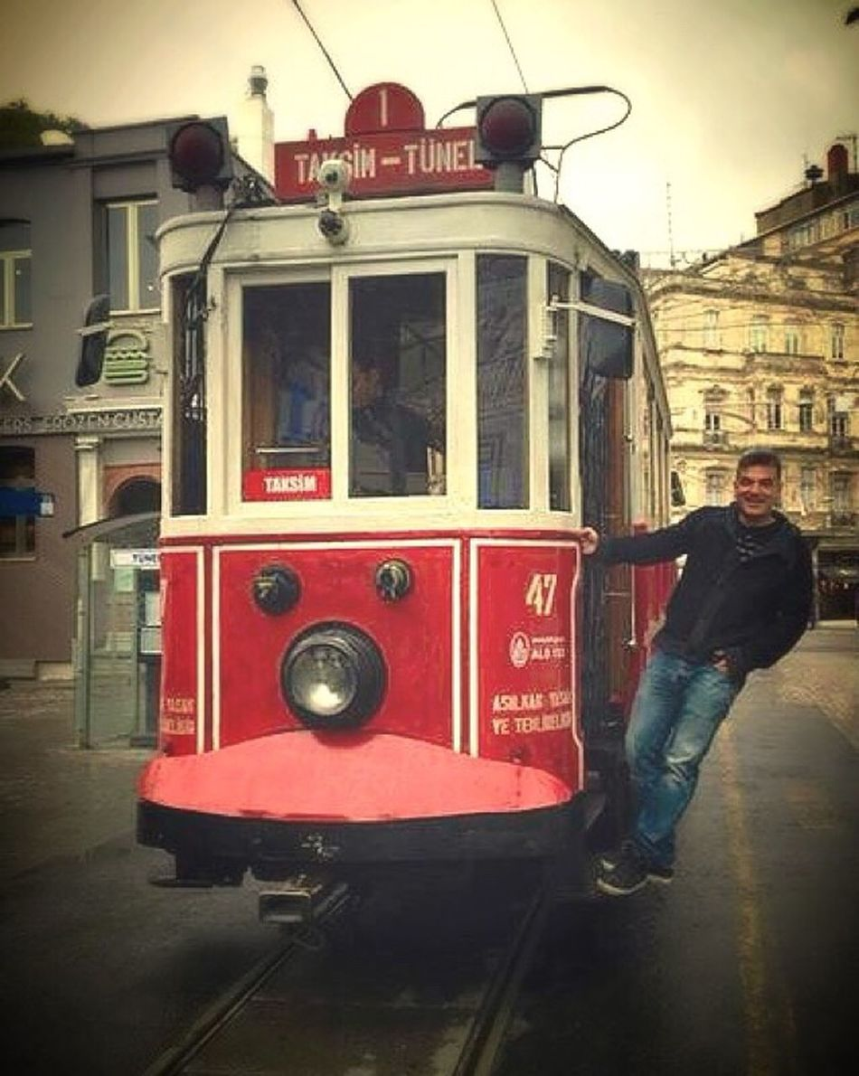 Turkey Istanbul Istiklalcaddesi Tram Transportation Outdoors One Man Only Adult One Person Travel Destinations Travel Photography Iosphotography Shopping ♡