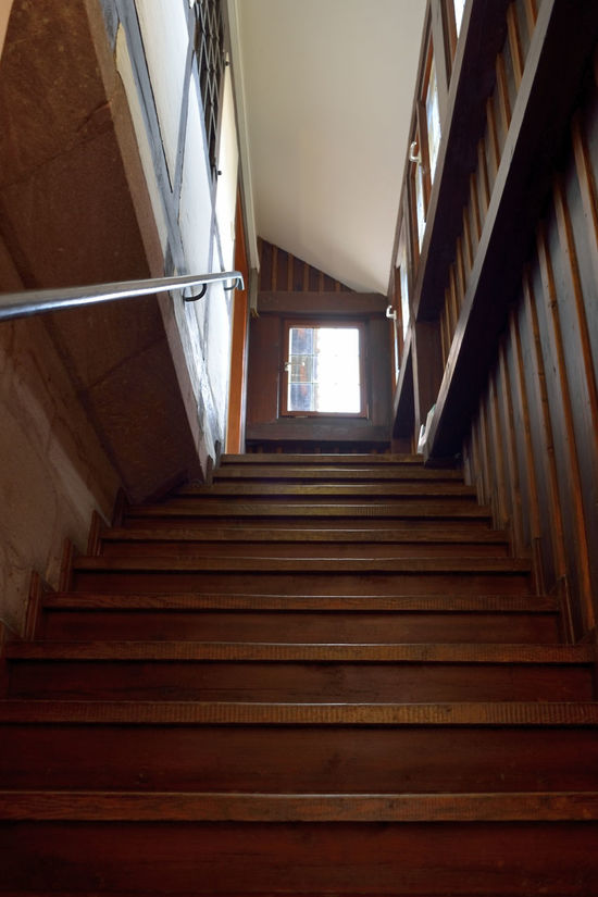 Architecture Building Built Structure Corridor Day Diminishing Perspective Directly Below Empty Low Angle View Made Of Wood Narrow Nikon Nikon D5200 Nikonphotography No People Old Buildings Staircase Stairs Steps Steps And Staircases The Way Forward Vanishing Point