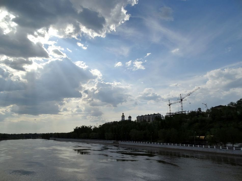Ural River River Ural Light Sky Sky And Clouds Nature Lover Architecture Church Trees Colors The Great Outdoors - 2016 EyeEm Awards My Favorite Photo Capture The Moment From My Point Of View Eyeem Gallery Taking Photos. I LOVE PHOTOGRAPHY Evening Light Light And Shadow Sunlight Eye4photography  Beauty In Nature Water Reflections Naturelovers Nature Photography