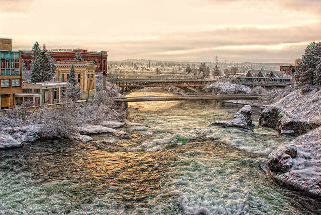 The Great Outdoors With Adobe Spokane Spokane River Spokane Washington Spokane Falls Bridge Nature Water