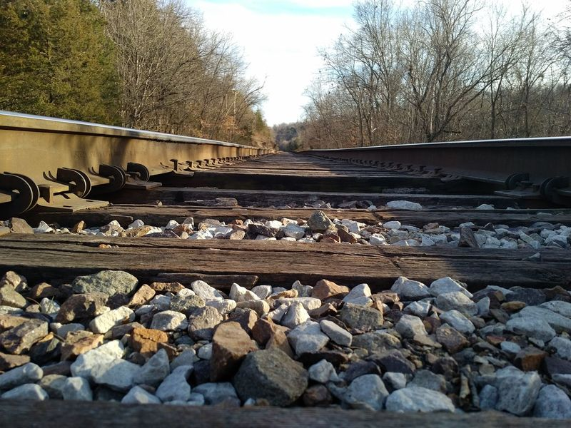 Abandoned Broken Day Destruction Diminishing Perspective High Angle View Long No People Obsolete Old Outdoors Public Transportation Rail Transportation Railroad Track Railway Track Straight The Way Forward Train Transportation Vanishing Point