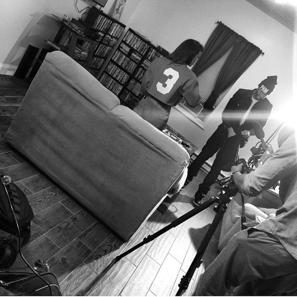"On set for ""Fly Guy"" video shoot. Ft Mr FlyGuy himself "" (@ejake_phm) "" Missoddbeauty x PHM Photo cred: @scrilla_h_phm Follow follow follow"