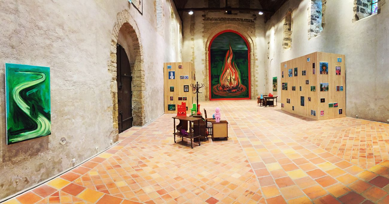 Artist Guillaume Pinard Paintings Painting Installation Installation Art Panorama Panoramic Photography Panoramic Art ArtWork Exhibition Château-Gontier, France Château-gontier Centre D'art Contemporain France Patrimoine De France