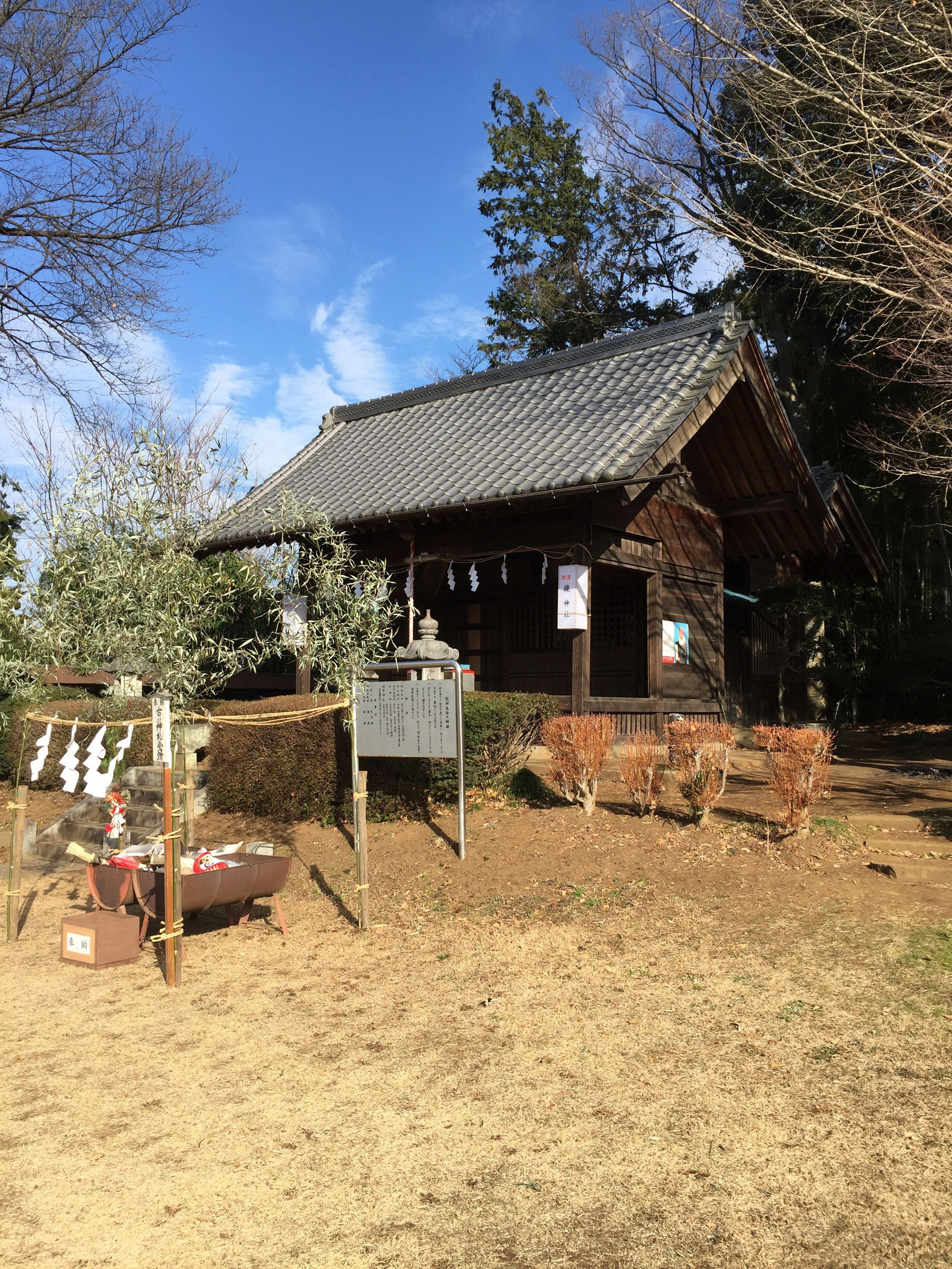 近所の神社で初詣