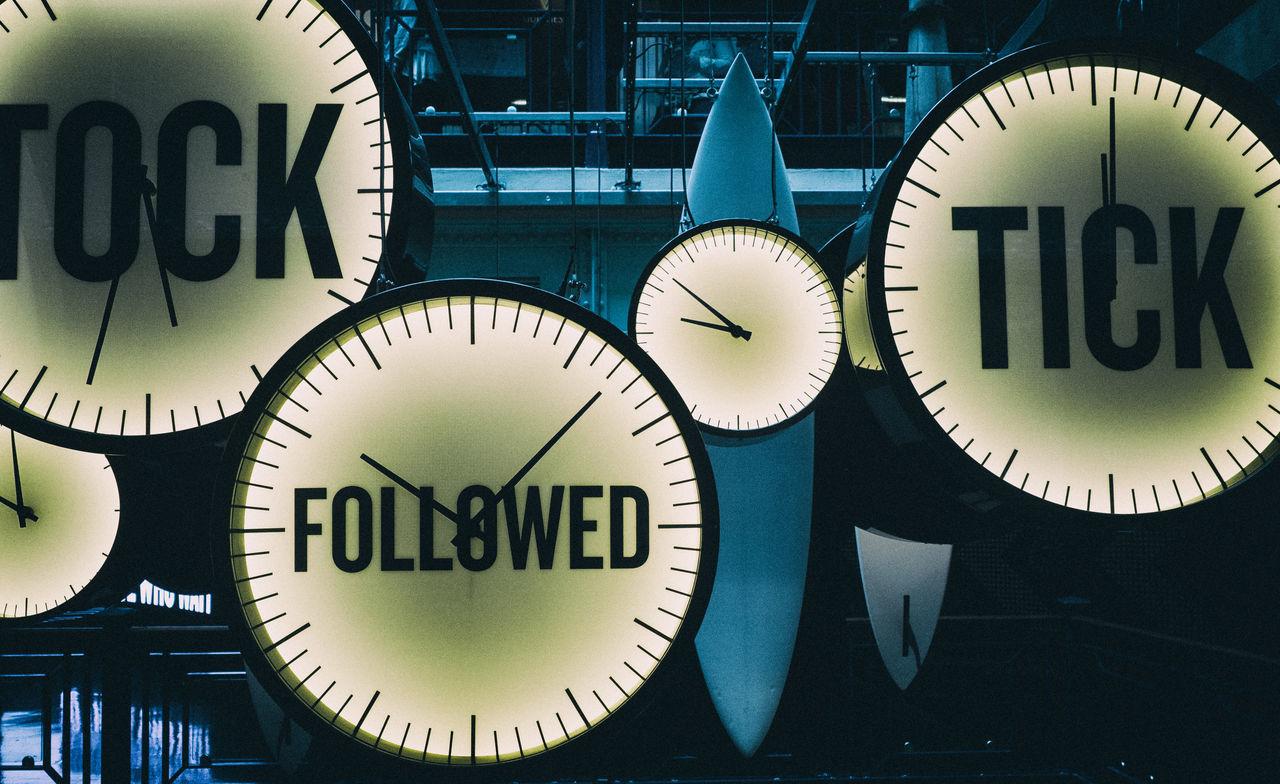 Clock Followed Hurry Modern Times Running Stress Tick Ticking Time Time To Reflect Tock Watch
