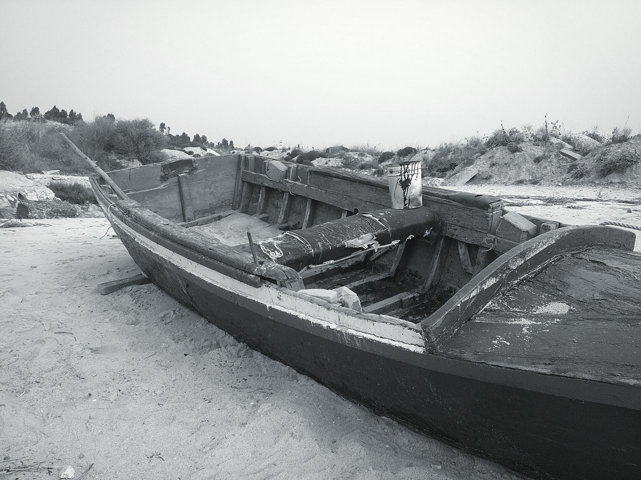 Nautical Vessel Transportation Old Boat Old Boats Ruins Wooden Texture Beach Wood - Material Boats And Clouds Sand EyeEmNewHere