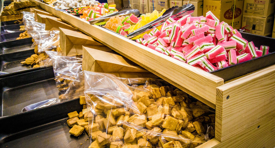 EyeEm Selects sweet candy dessert seoul south korea Retail  For Sale Business Finance And Industry Store Small Business Abundance Food And Drink Consumerism Business Market No People Large Group Of Objects Freshness Food Day Price Tag Outdoors Close-up Supermarket Seoul, Korea Incheon Sweets Candyshop Street Shop
