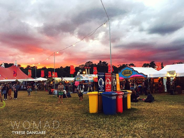Stalls Multi Colored Vibrant Color Outdoors Large Group Of Objects Colorful WOMAD Tourist Resort Dramatic Sky Atmospheric Mood Atmosphere Beauty In Nature