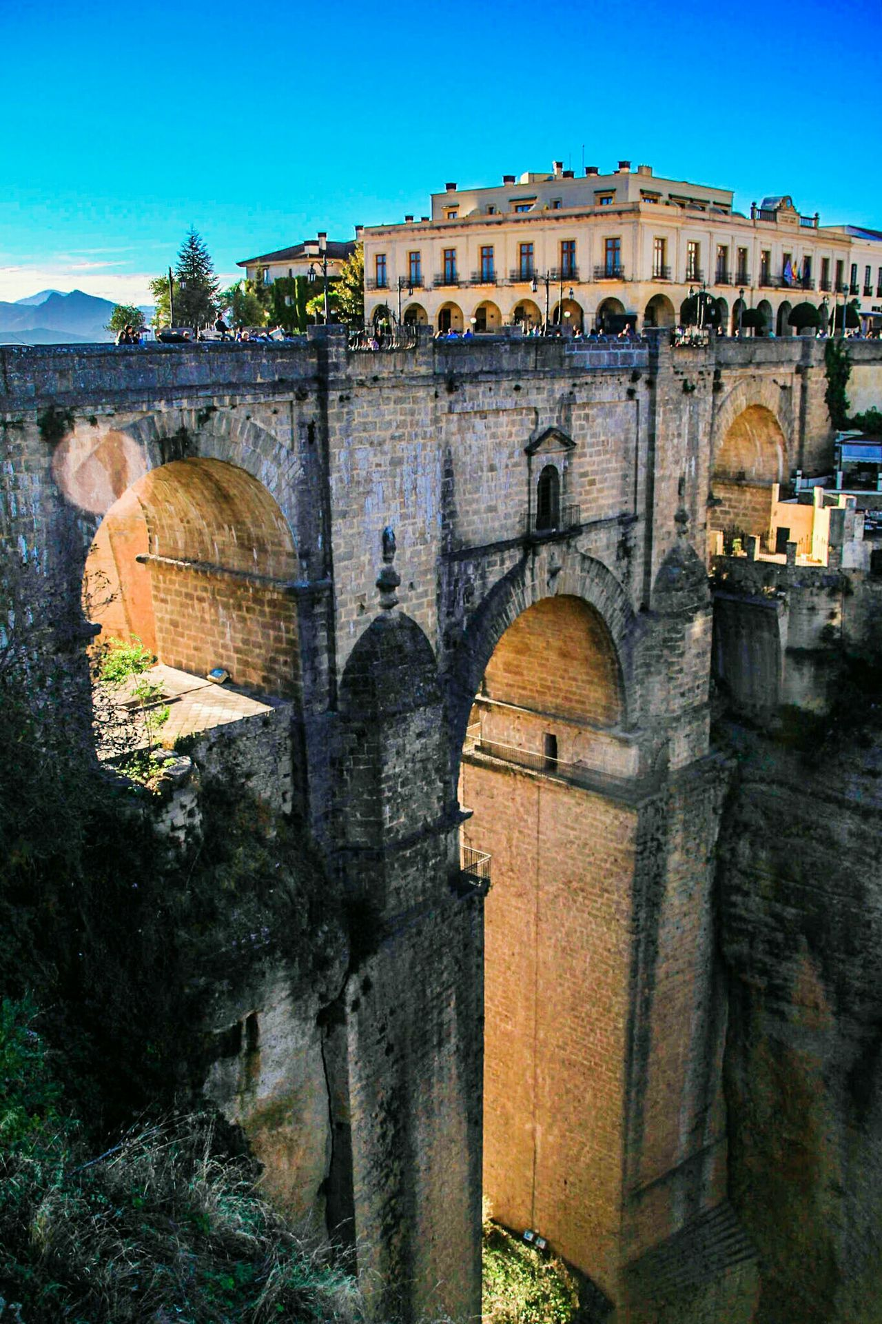 History Travel Destinations Architecture Built Structure The Past Arch Building Exterior Outdoors Ancient Sky City Medieval Check This Out EyeEm Gallery Ronda Ronda, Malaga Ronda Spain Sunlight Evening Light Bridge Stone Bridge Cliff Puente Nuevo De Ronda Puente Travel