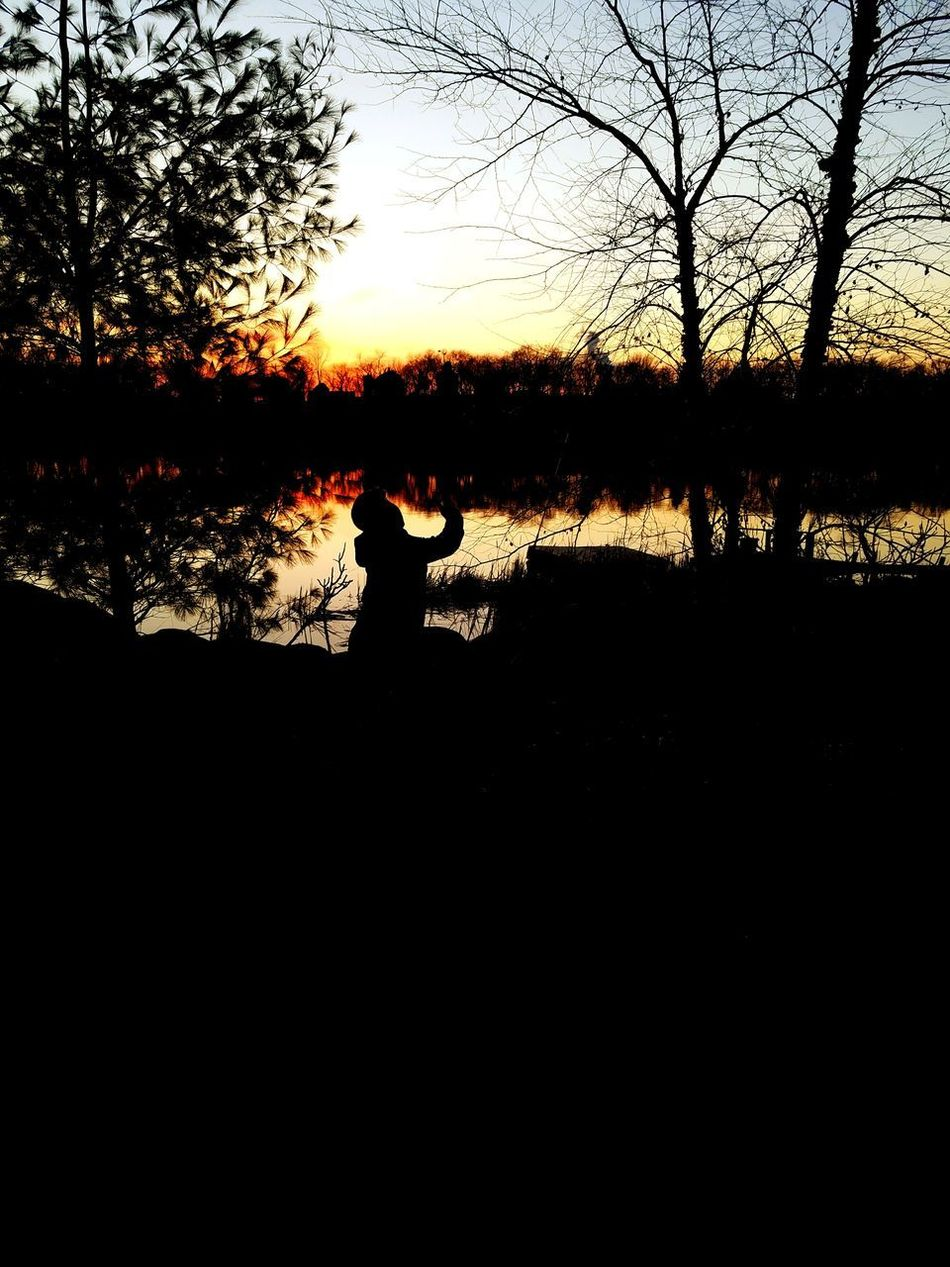 s Silhouette Sunset Real People One Person Tree Sky Sun Nature Outdoors Water CountryLivinG Myview Minnesota Tranquility Livelaughlove♡ Through My Eyes Mysky