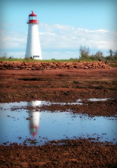 Point Prim lighthouse - PEI Canada Cloud East Coast Landscape Lighthouse Maritimes Pei Point Prim Prince Edward Island Reflection Sky Summertime Water