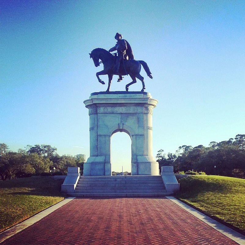 Hermannpark Samhouston Statue Houston Texas