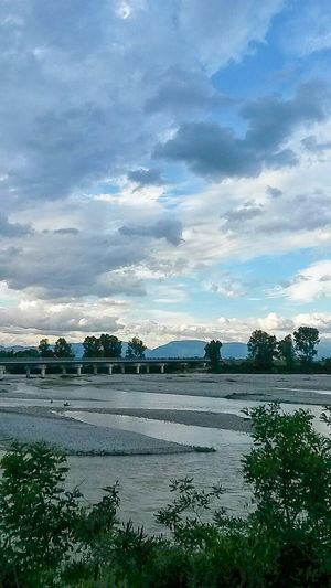 Sky After Rain Beautiful Clouds Fiume Piave River View