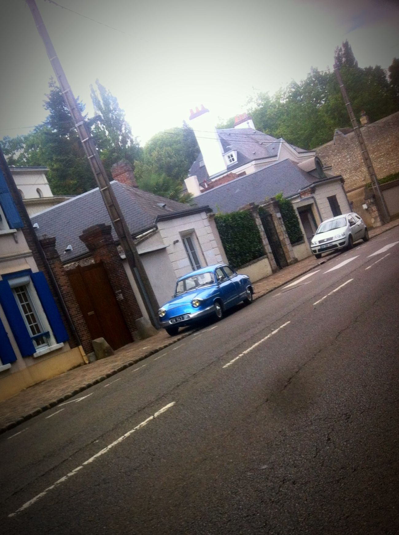 Blue old Panhard Old Car Panhard Old Car Cars Vintage Cars
