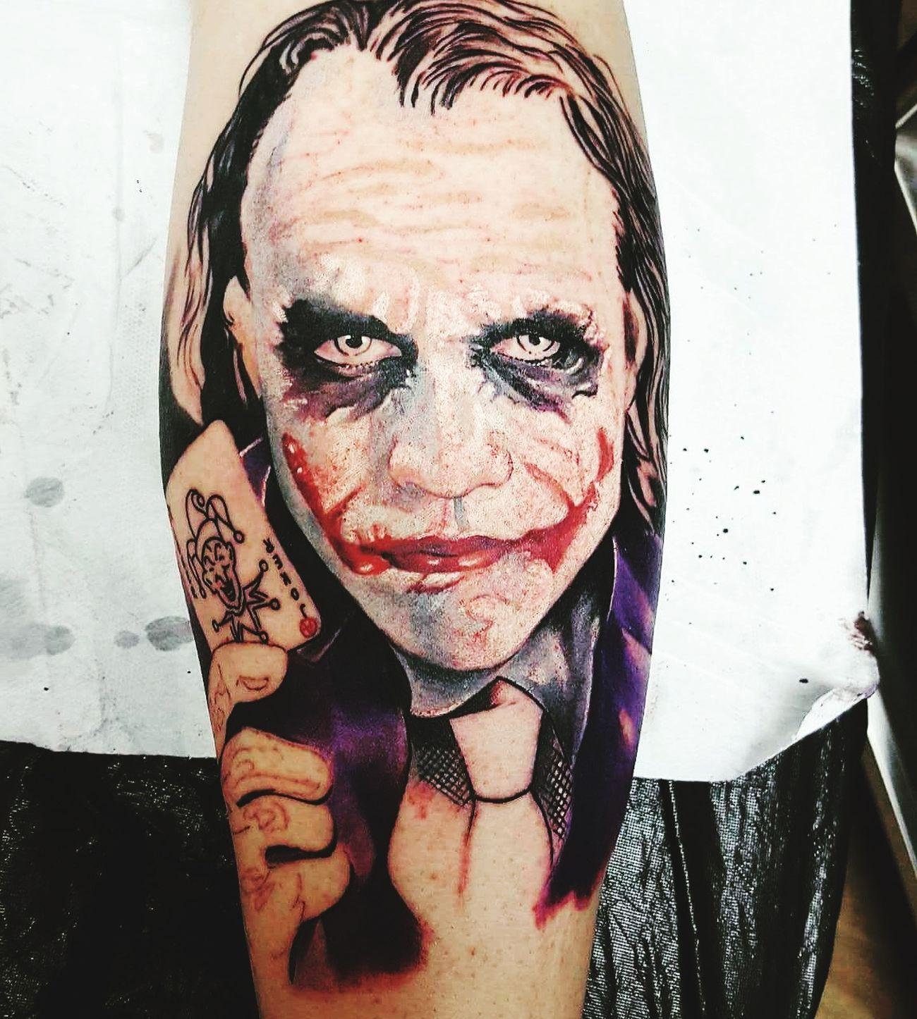 Tatto Human Body Part Thejoker Portrait Batman Joker ❤️  Heathledger Love ♥ Tattoos Tattoo Life Darkknight