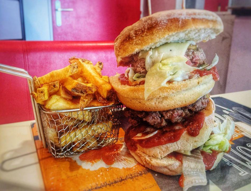 Burger Burger And Chips Burger And Fries